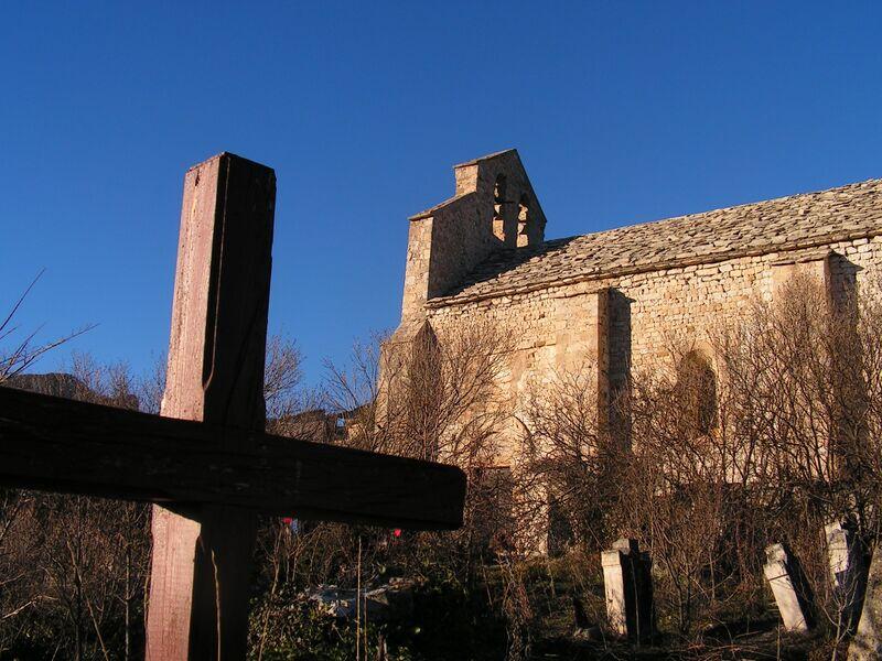 Visite de l'église du vieux Noyers
