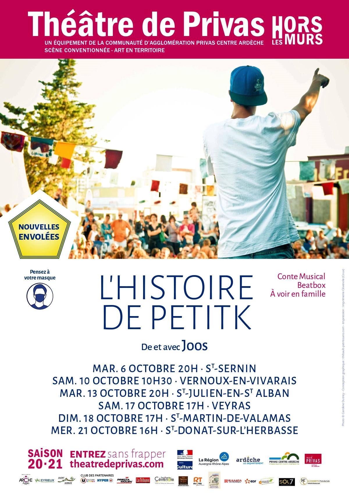Spectacle L'histoire de PetitK (conte musical en human beatbox)