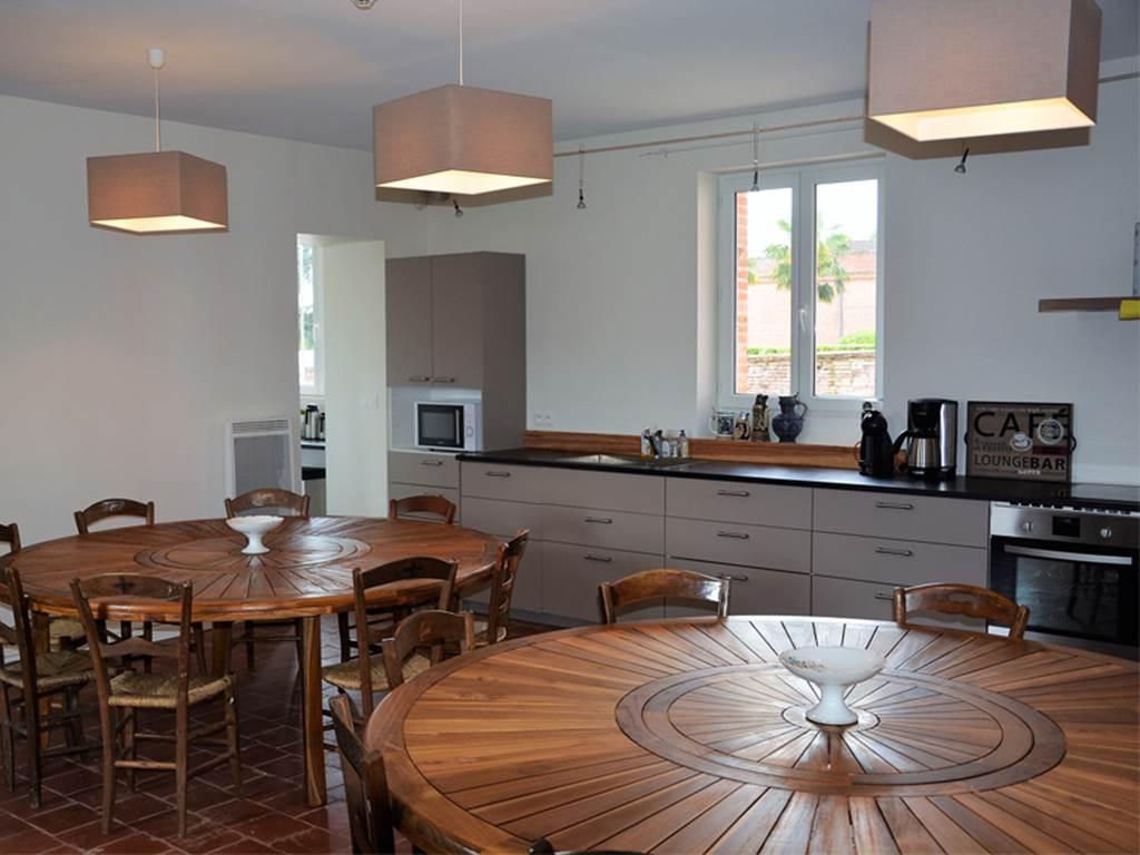 Cuisine/salle à manger du gîte Manzana