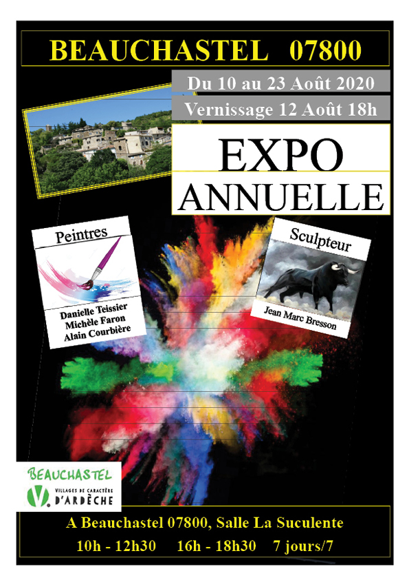Events…Put it in your diary : Expo annuelle