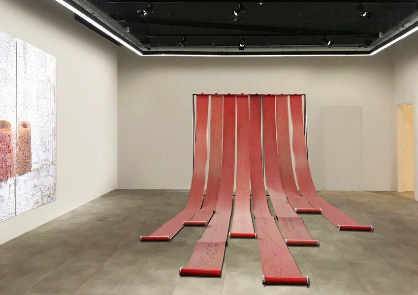"Installation ""Turlutaine (barbarie)"" de Dominique de Beir"