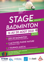 Stage Badminton adultes - Ruoms