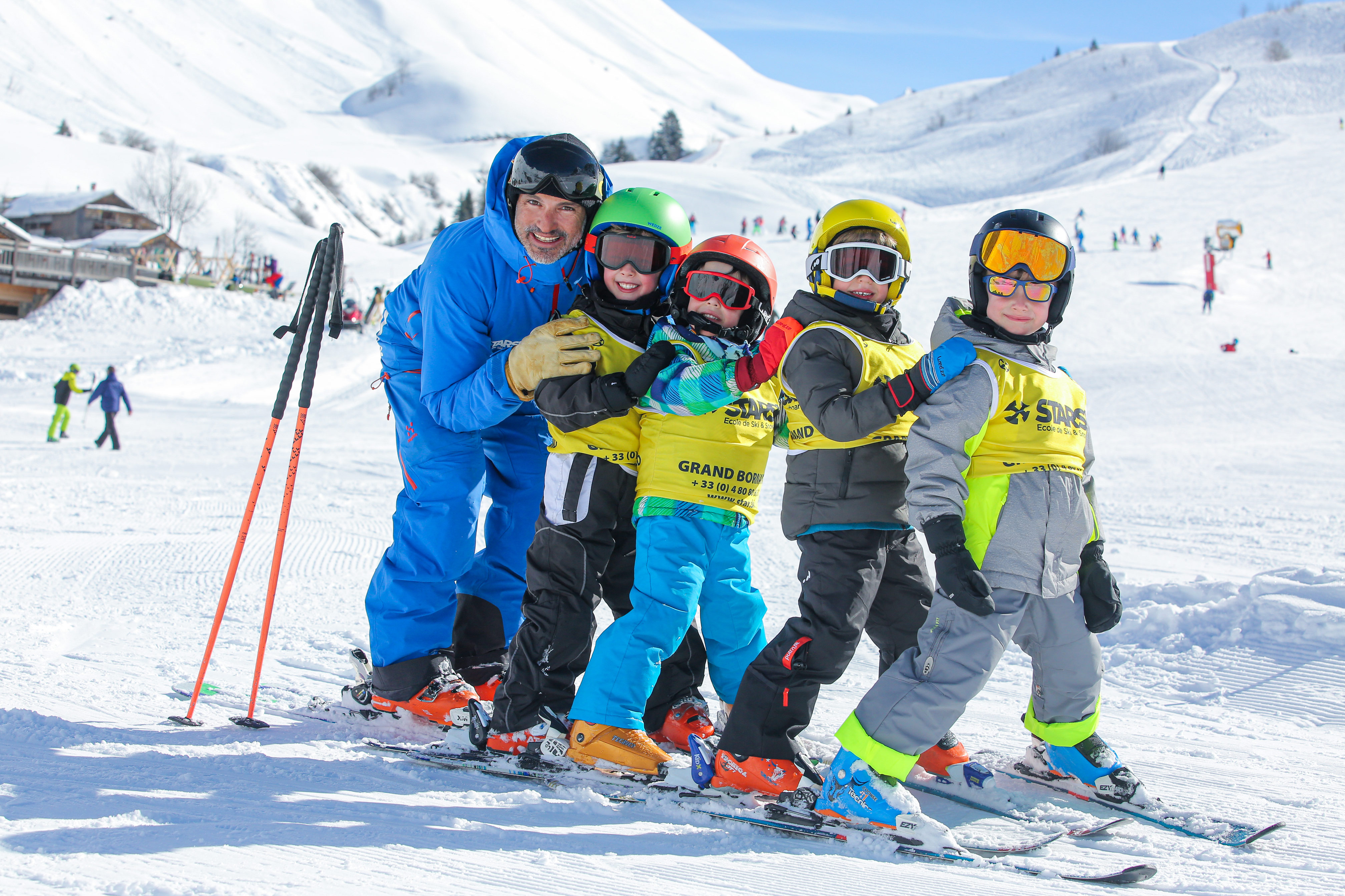 Oxygene's children group ski lessons