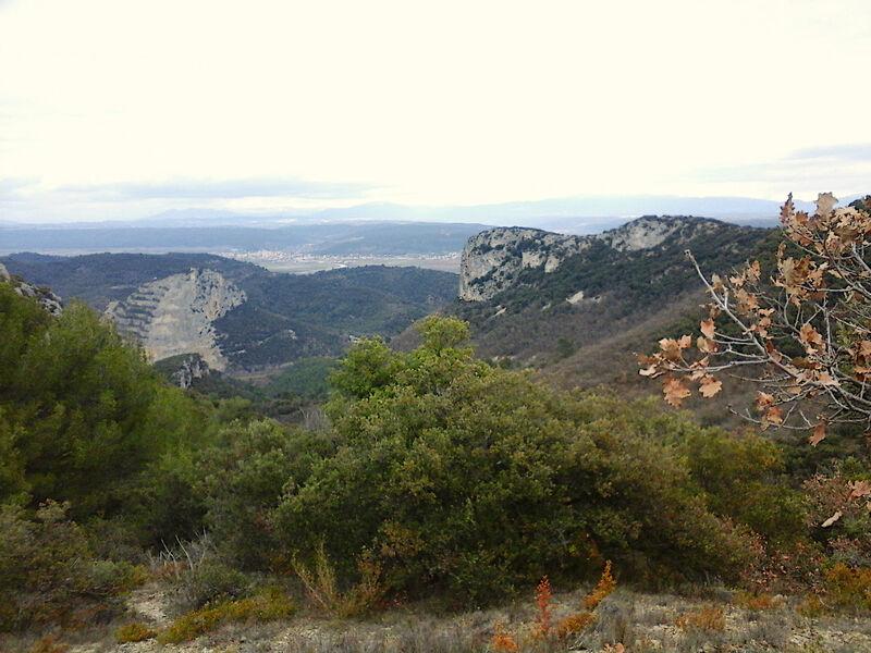 Un itinéraire boisé, avec des vues magnifiques sur le pays de Forcalquier