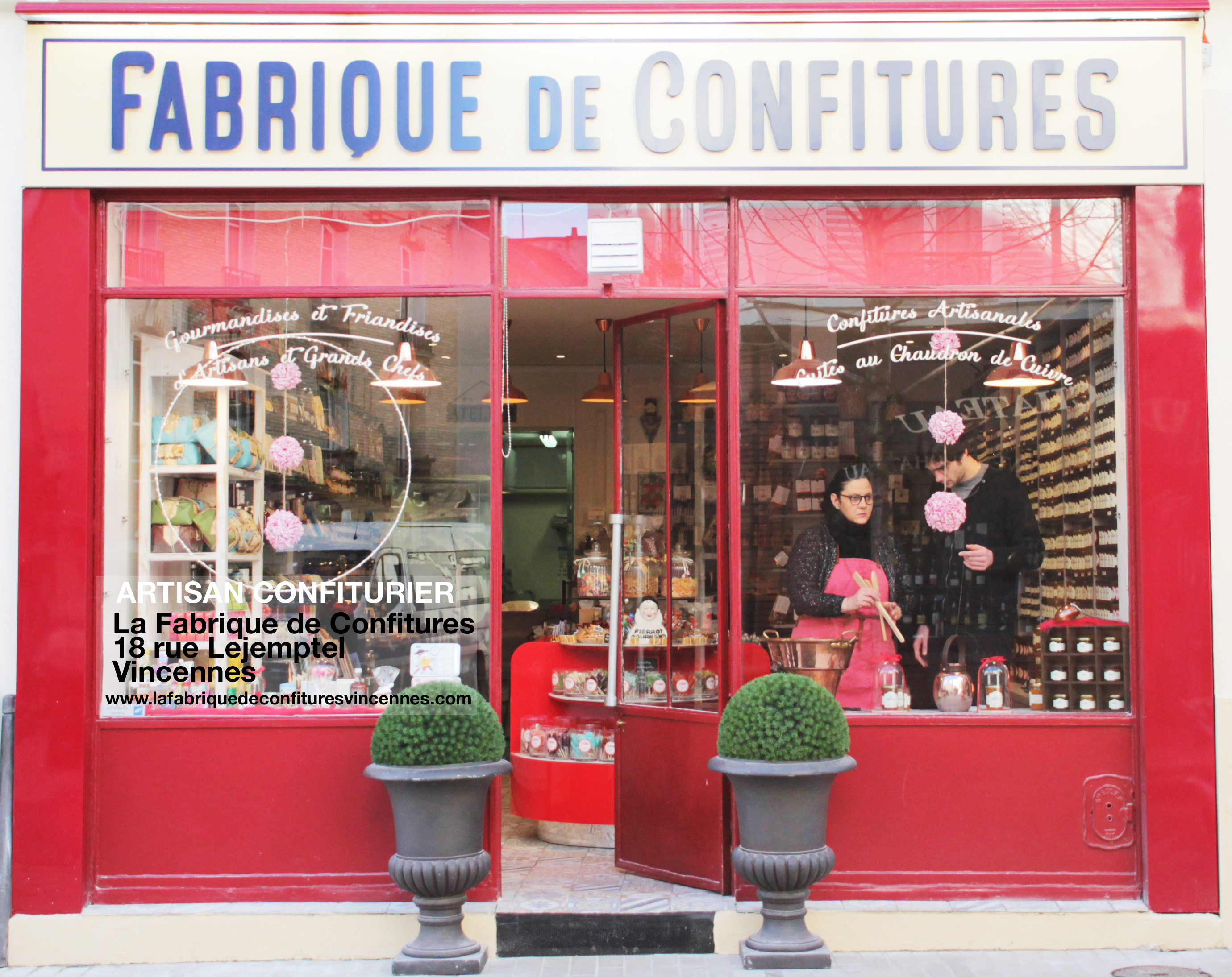La façade de la Fabrique de confitures