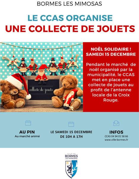Collecte de jouets au marché de Noël du Pin