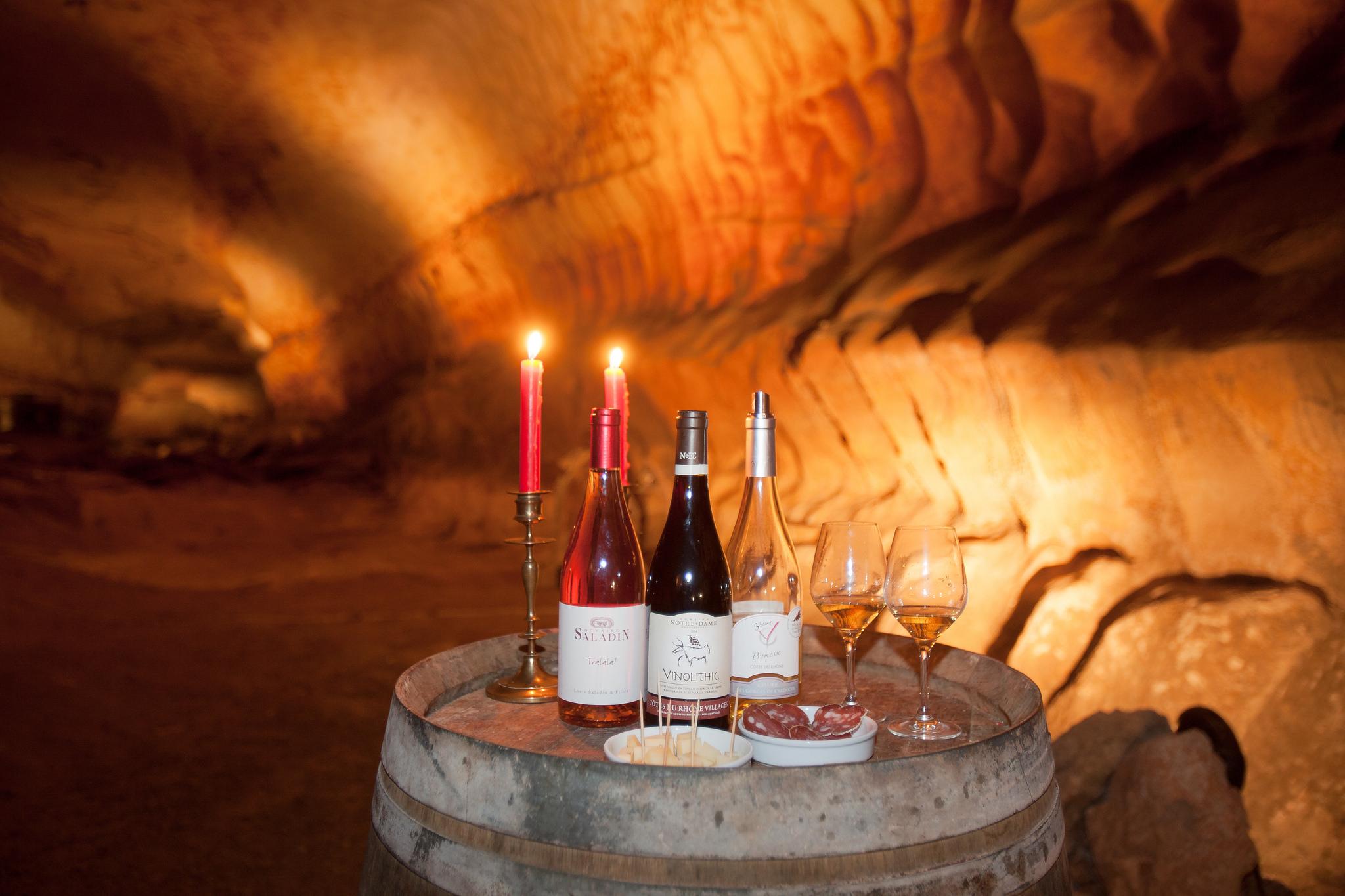 visite enotouristique à la grotte de St-Marcel