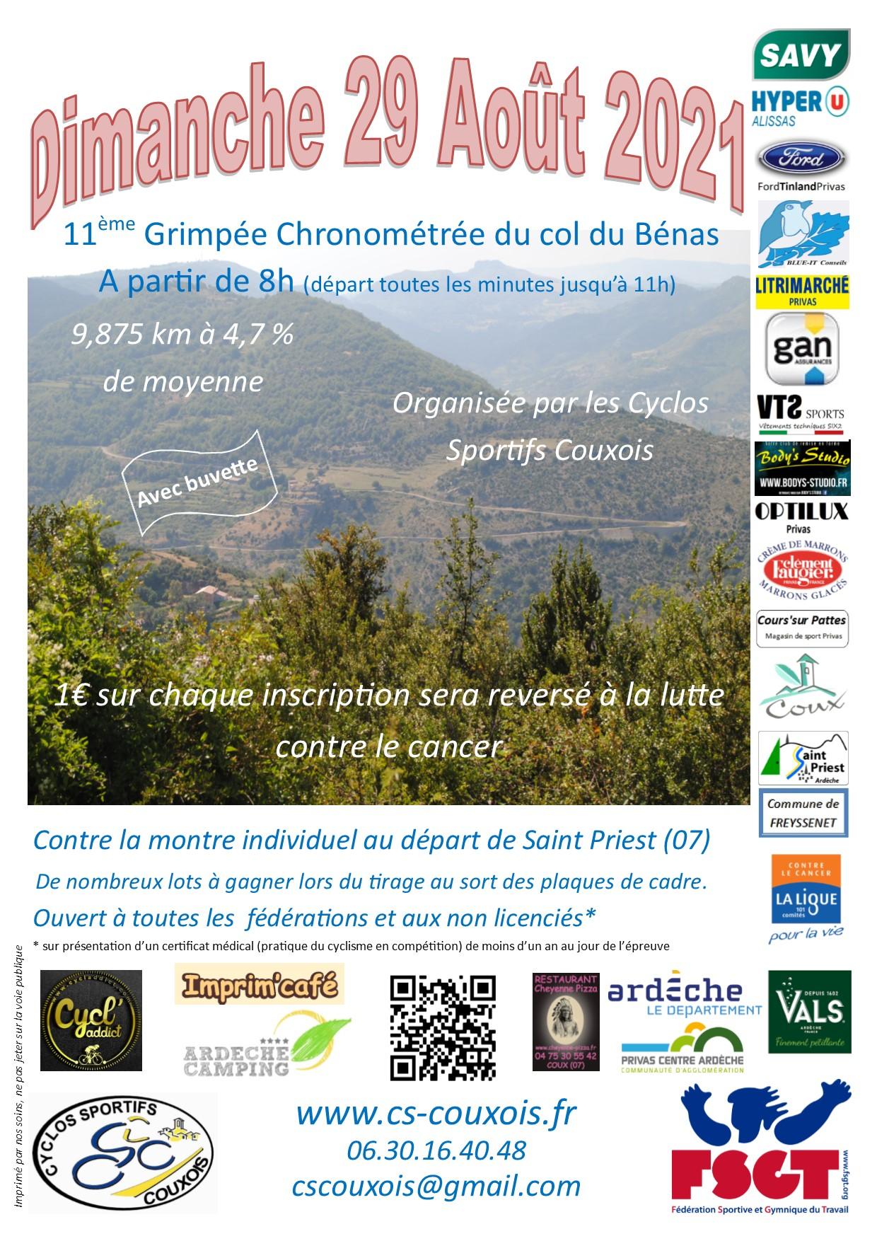 11° Grimpée chronométrée du Col du Bénas