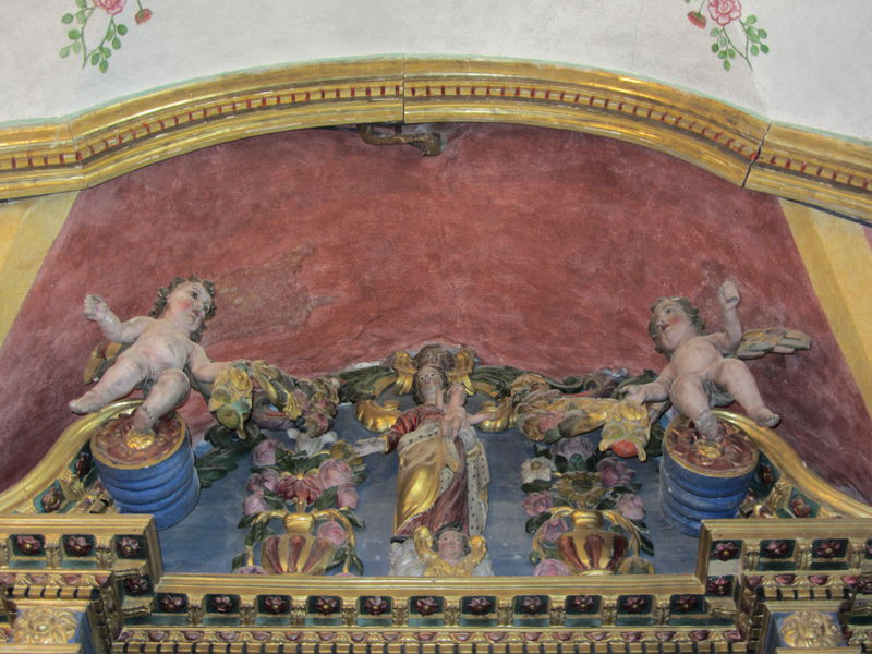 Beaune autel marial retable couronnement