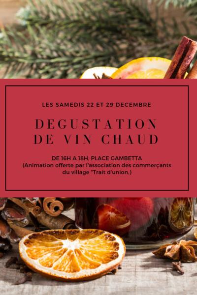 Dégustation de vin chaud à Bormes-les-Mimosas - le Samedi 29 Décembre