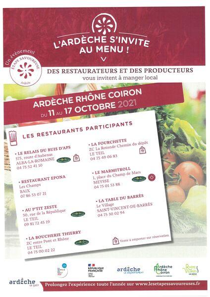 LArdèche sinvite au menu! Restaurant La table du Barrès