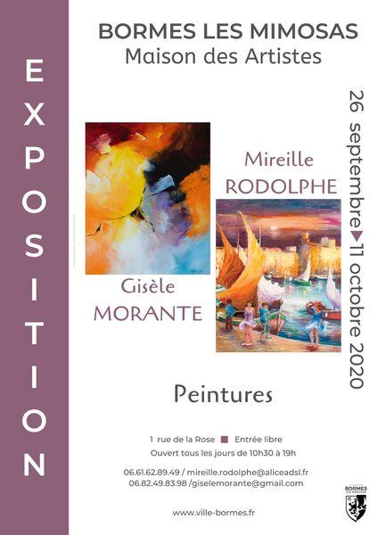 Exposition Mireille Rodolphe et Gisèle Morante