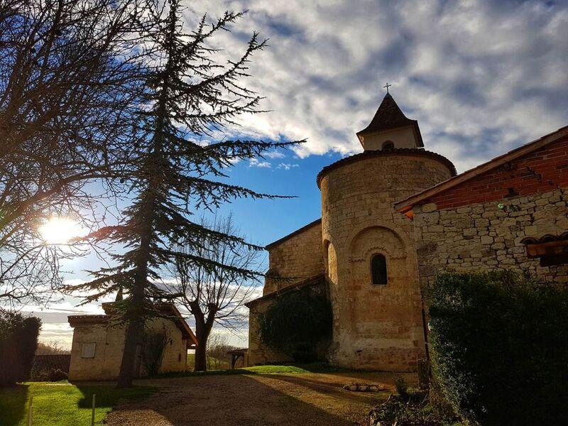Eglise de Gandoulès, et son hameau