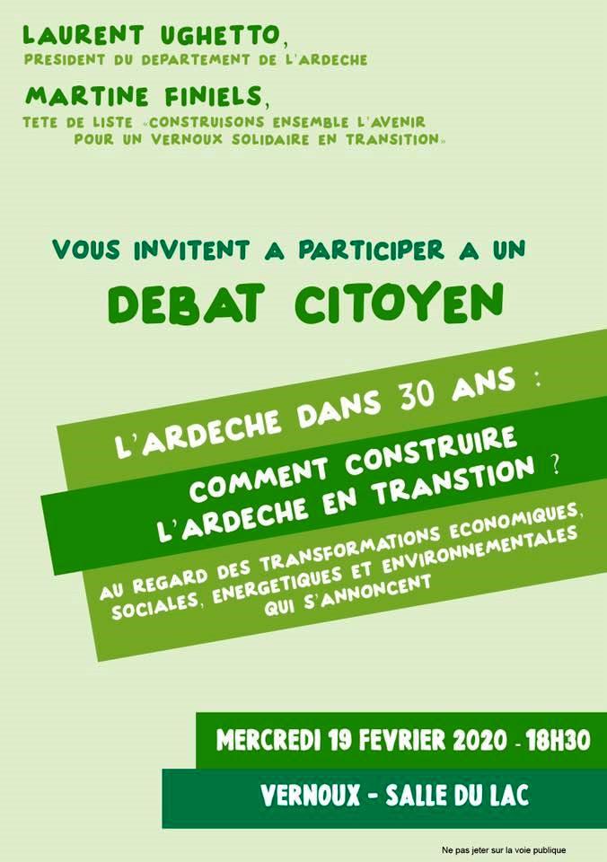 Rendez-vous futés ! : Débat citoyen sur le thème Comment construire l'Ardèche en transition ?