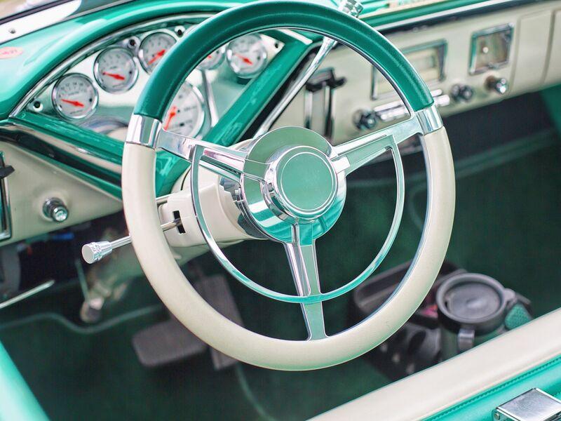 Intérieur dune vieille voiture
