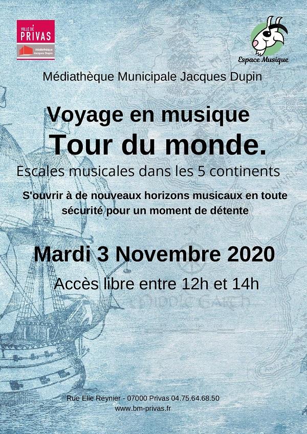 Sieste musicale : Voyage en musique, Tour du monde