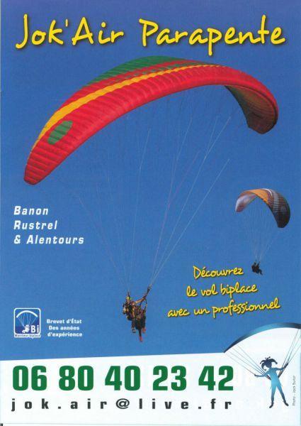 Flyer Jok\'Air Parapente