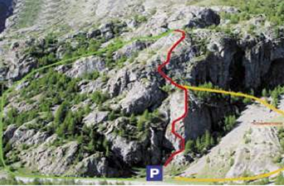 Descriptif visuel de la via ferrata