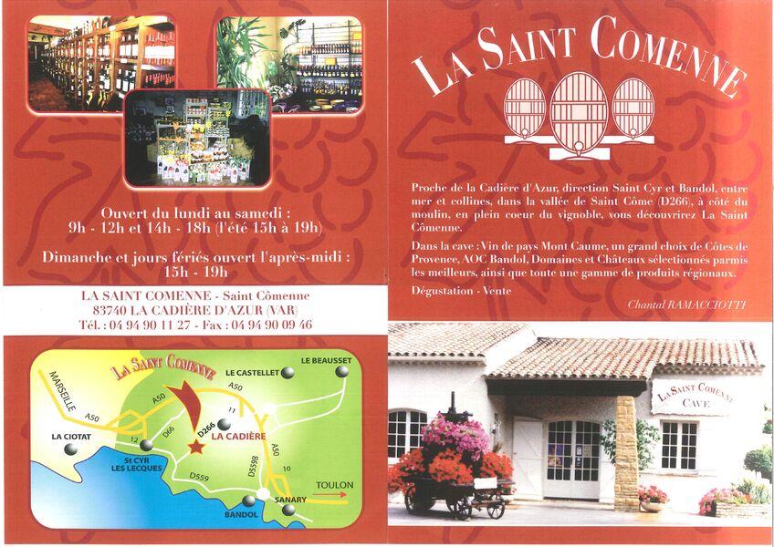 Saint Comenne - Flyer - Négrel-Peruzzo