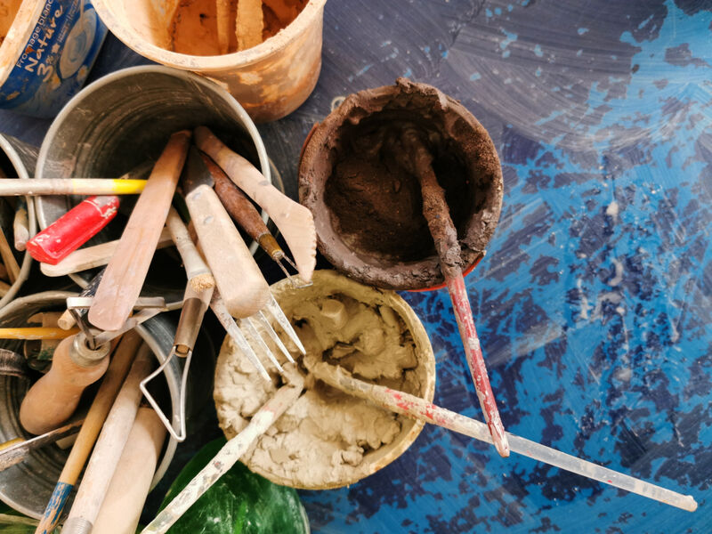 Outils poterie atelier de Sophie