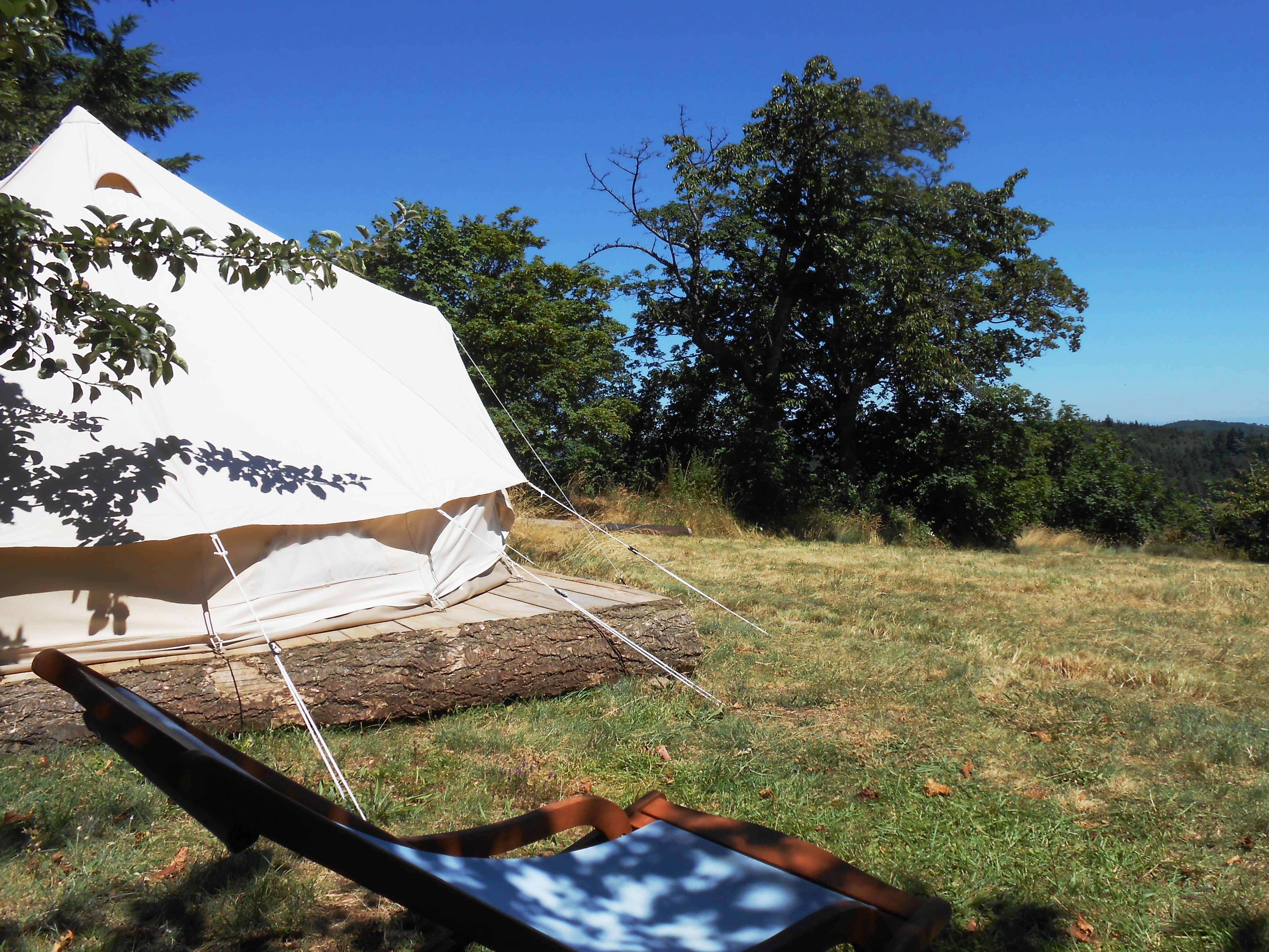 Hébergements insolites et enchanteurs en Ardèche Buissonnière. : Les Soleillas - tente saharienne (1-5 pers.)