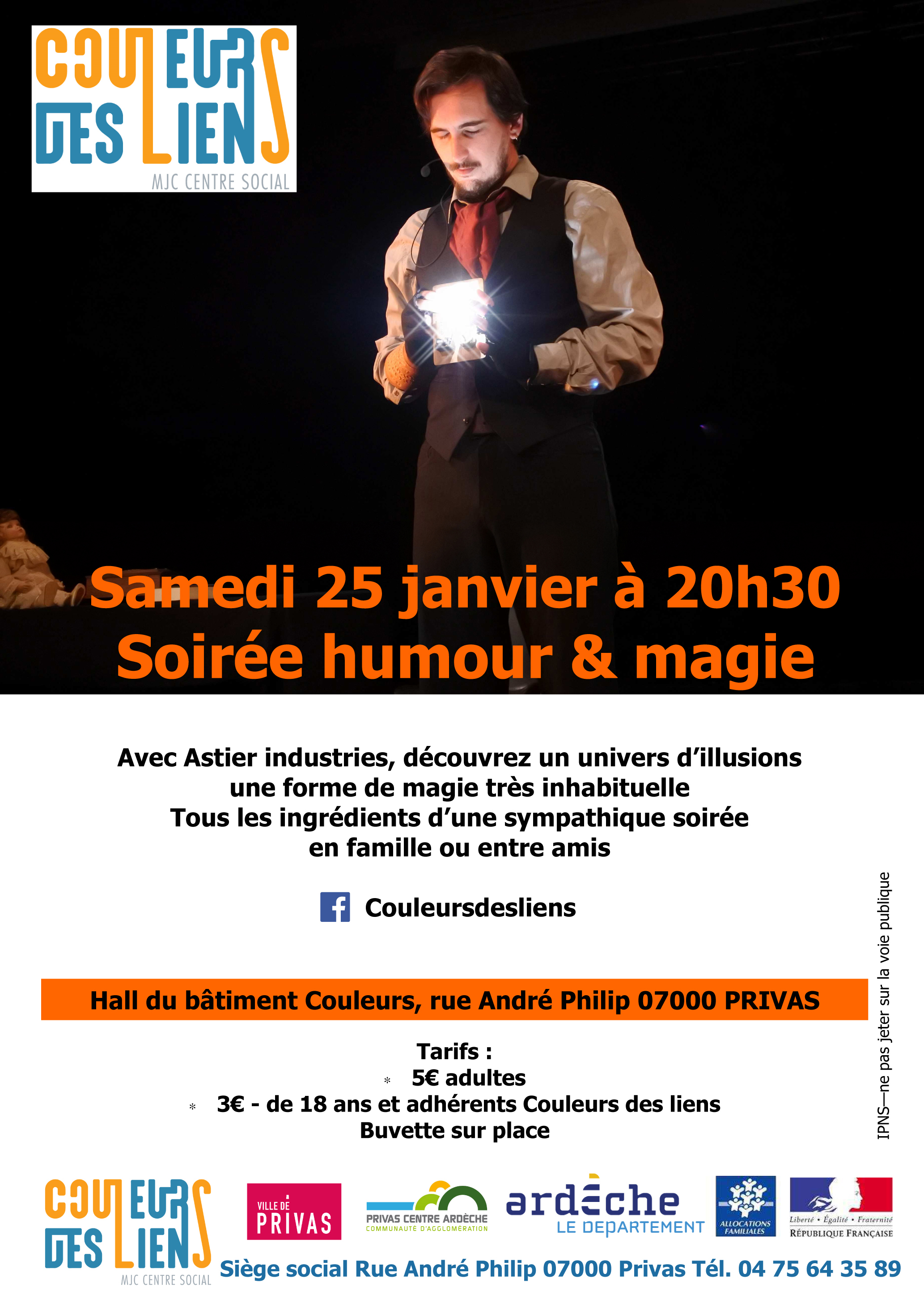Events…Put it in your diary : Spectacle humour et magie