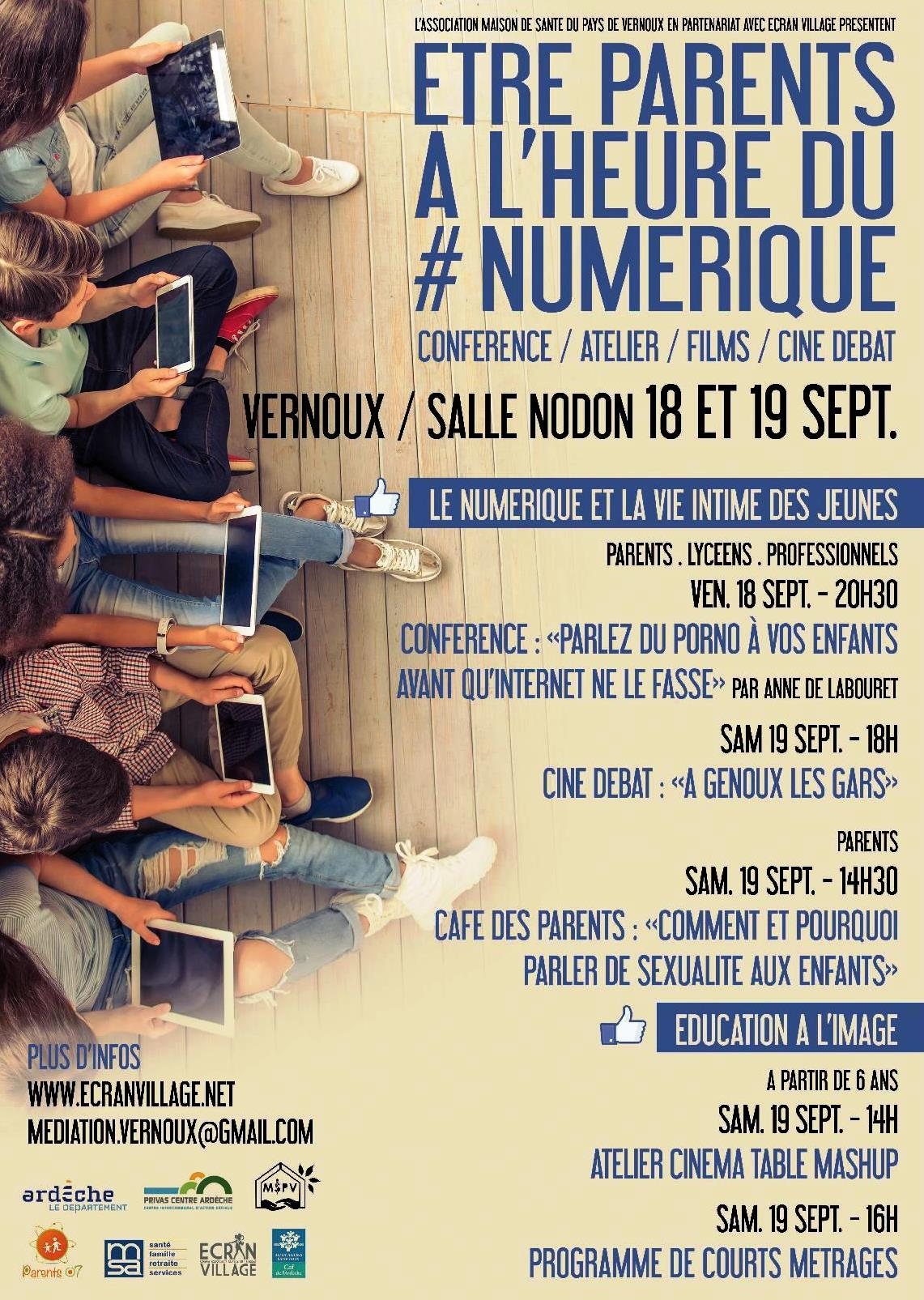 Events…Put it in your diary : Week-end sur le thème Être parents à l'heure du numérique