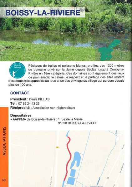 Boissy-la-Rivière - Parcours de pêche