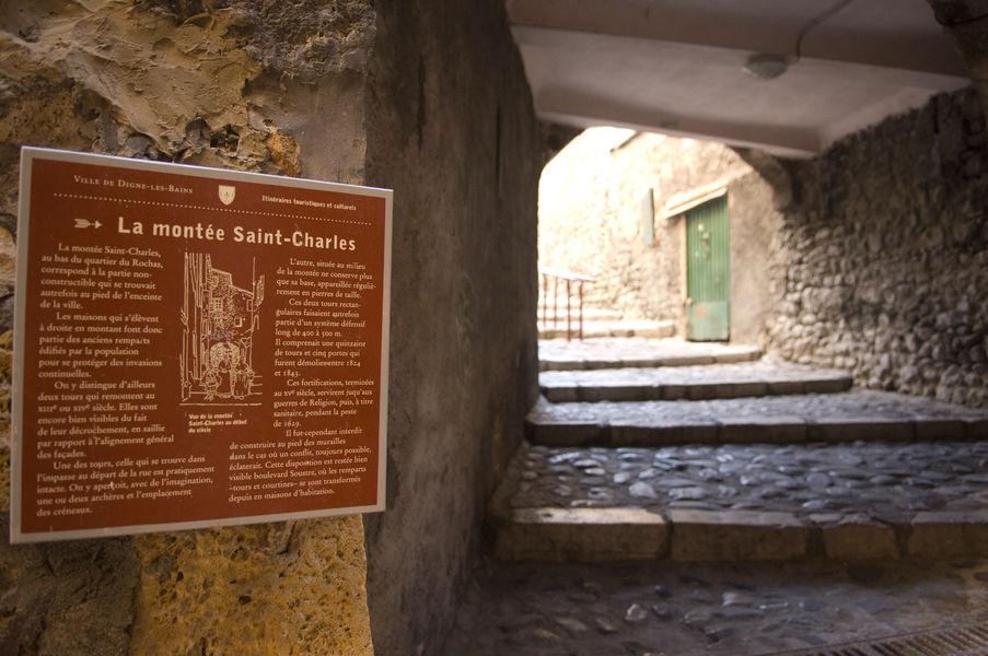 Digne les Bains Montée Saint Charles