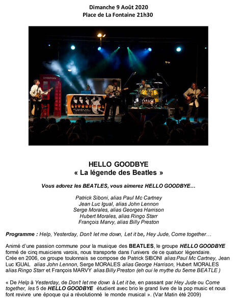 Annulé - Concert Hello goodbye
