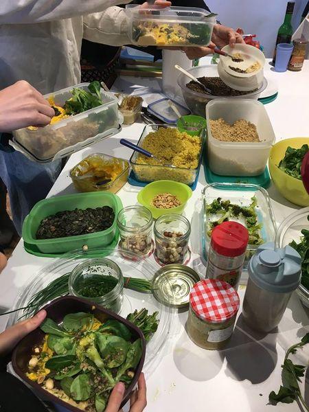 Atelier assiette végétarienne