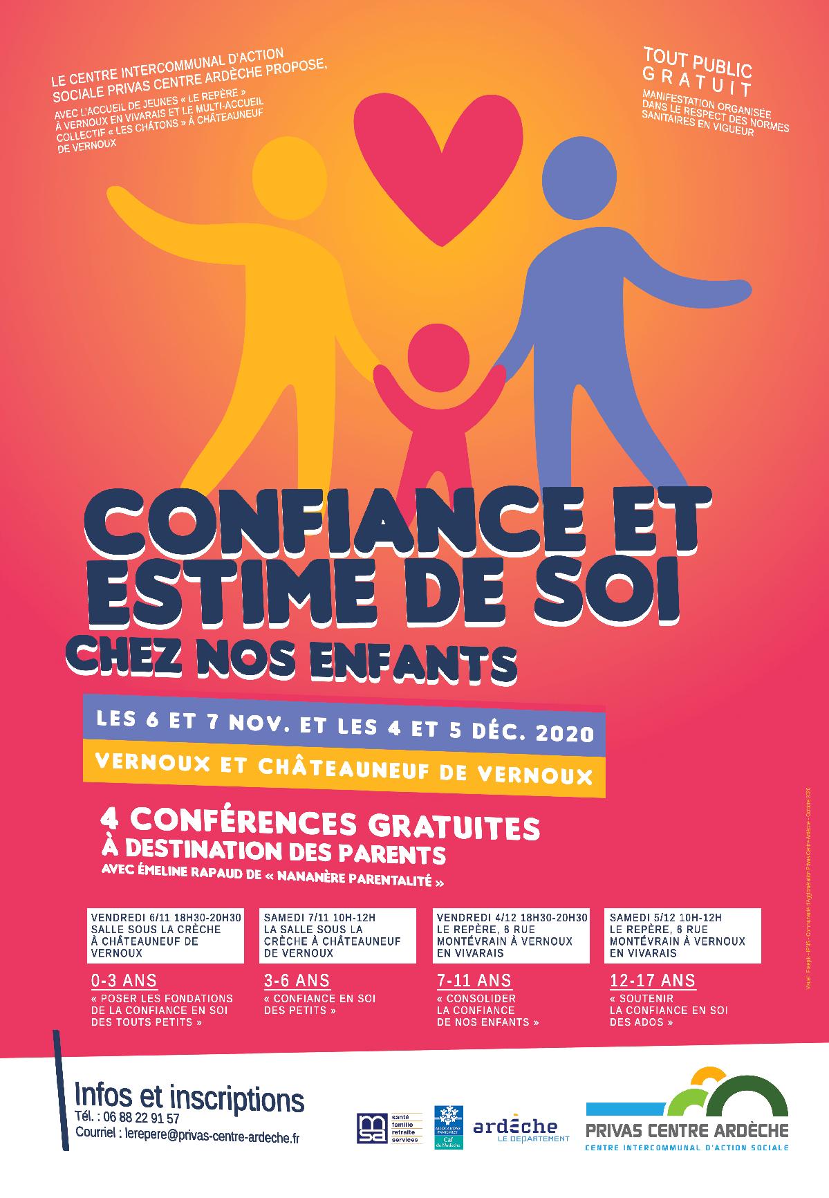 Rendez-vous futés ! : Conférence sur le thème Enfants de 7 à 11 ans : consolider la confiance en soi des enfants