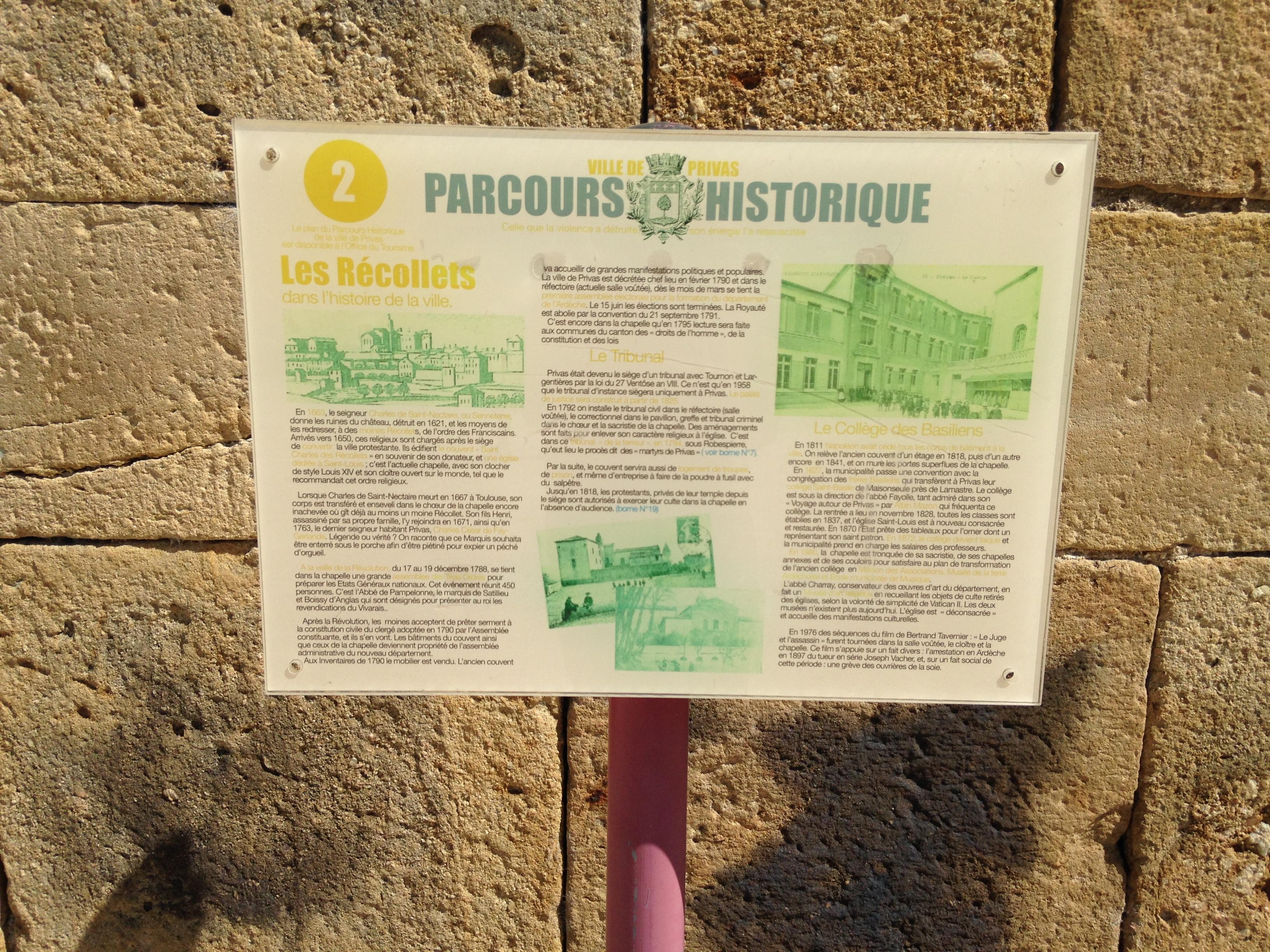 Sites touristiques : Parcours historique de la ville de Privas