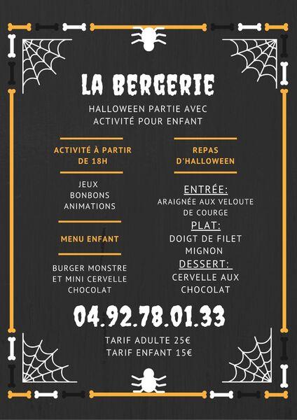 Halloween partie à la Bergerie