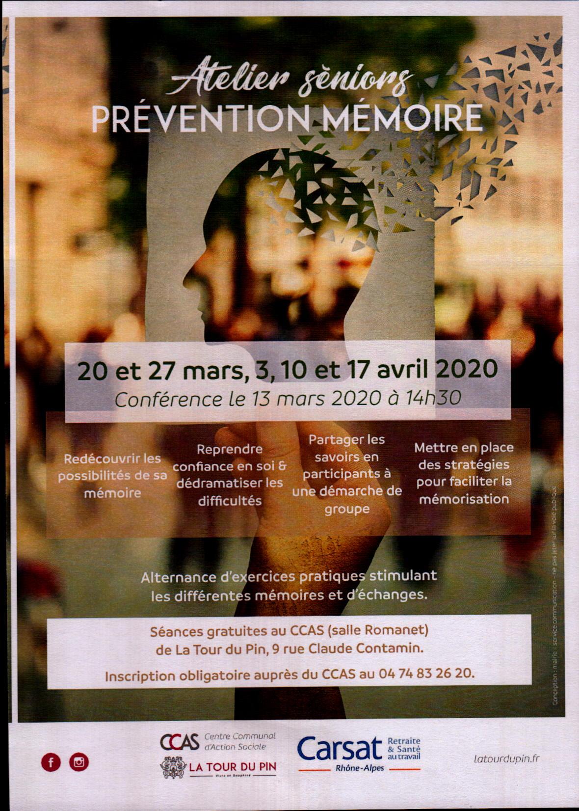 Atelier séniors Prévention mémoire