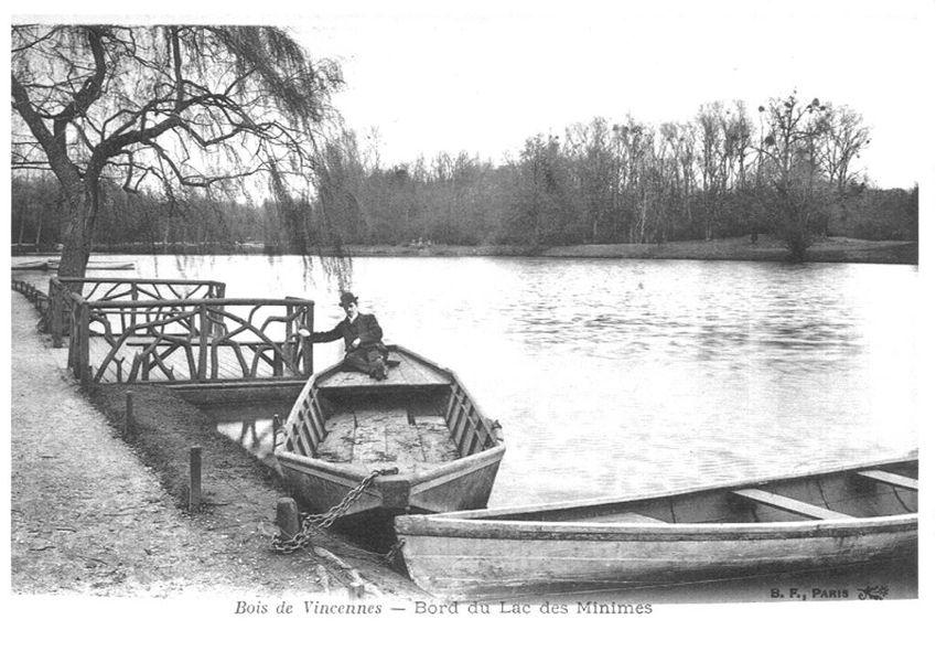 Le lac des Minimes au début du siècle