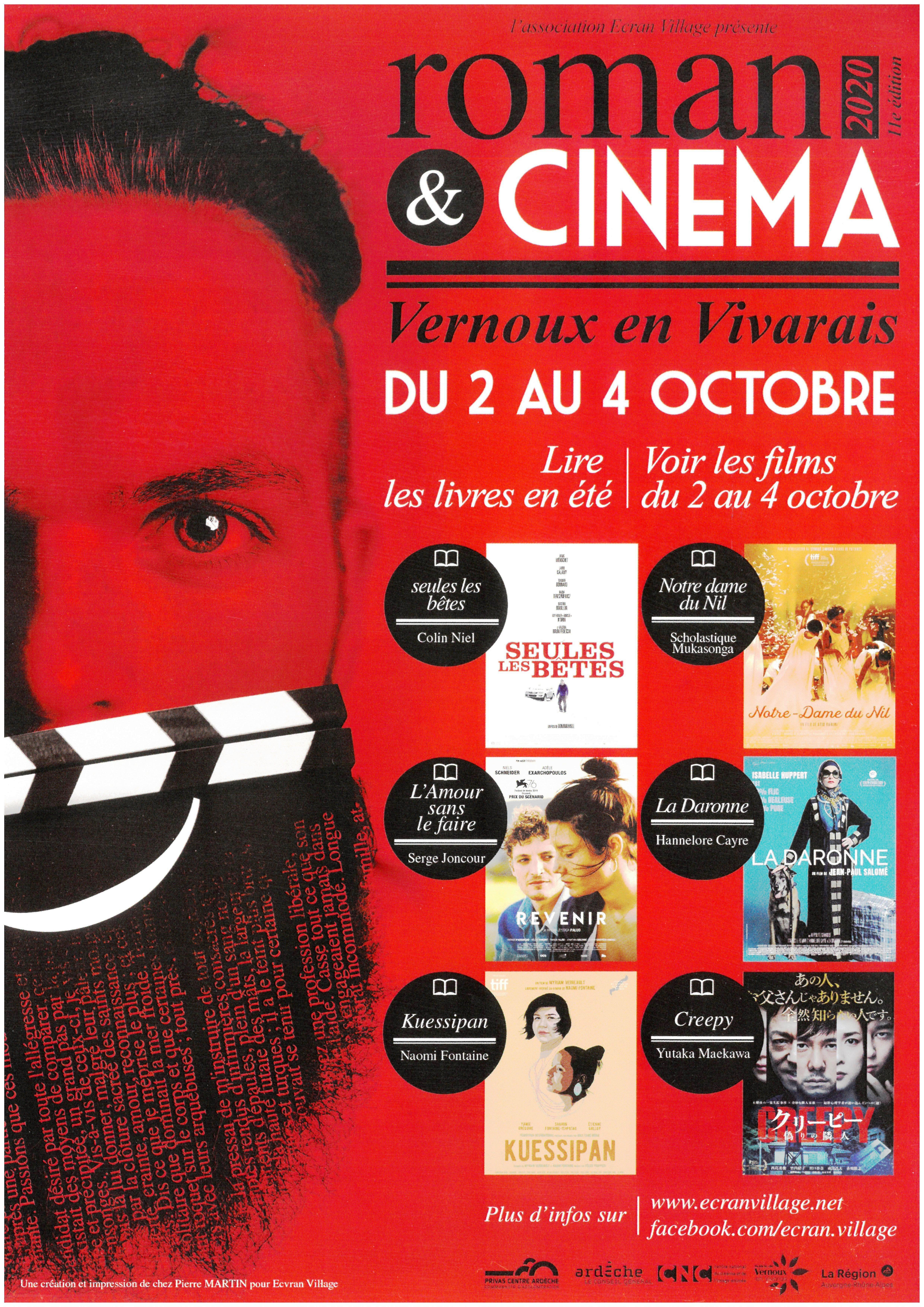 Events…Put it in your diary : Préparation du festival Roman & Cinéma (11ème édition)