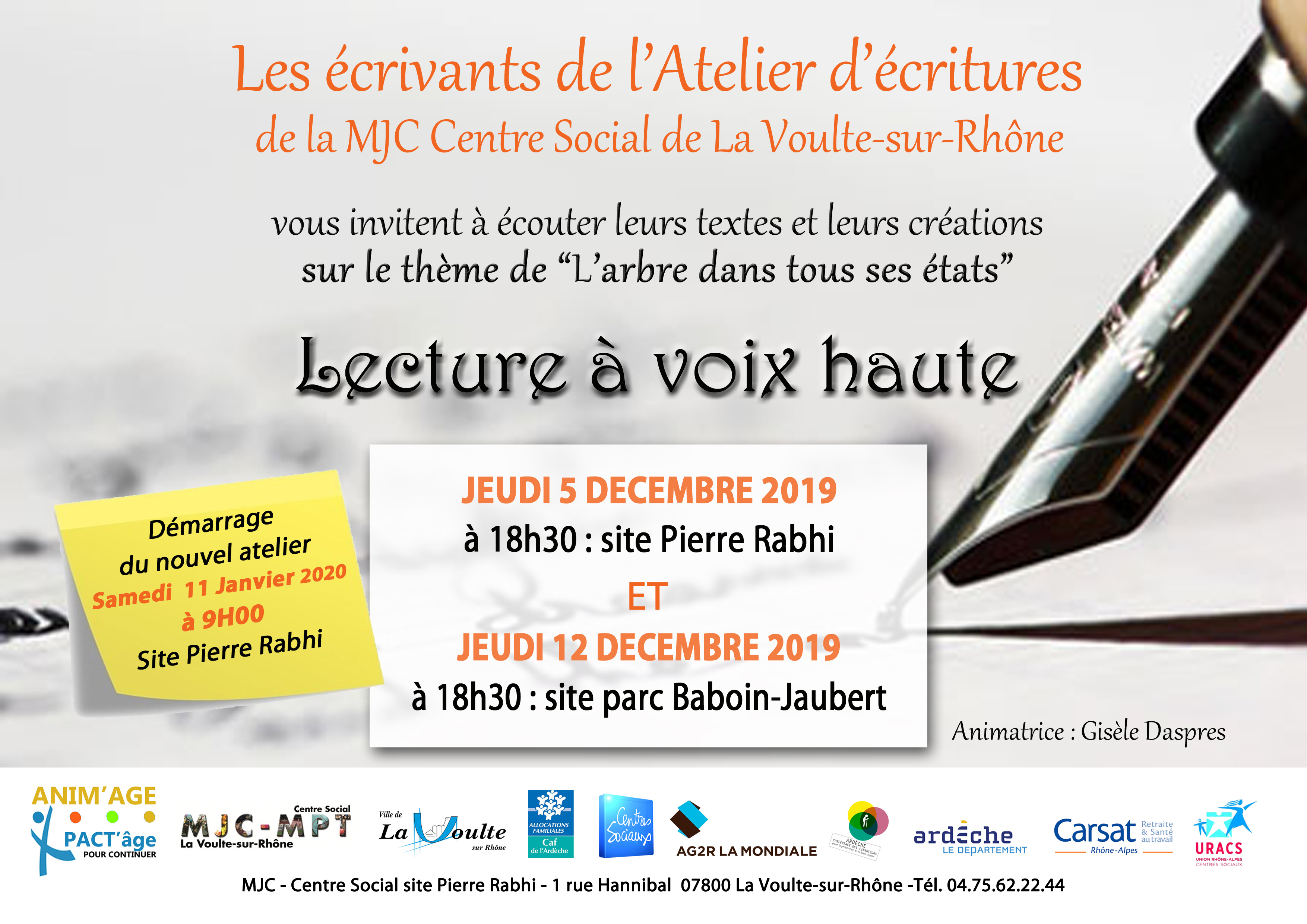 Events…Put it in your diary : Lecture à voix haute