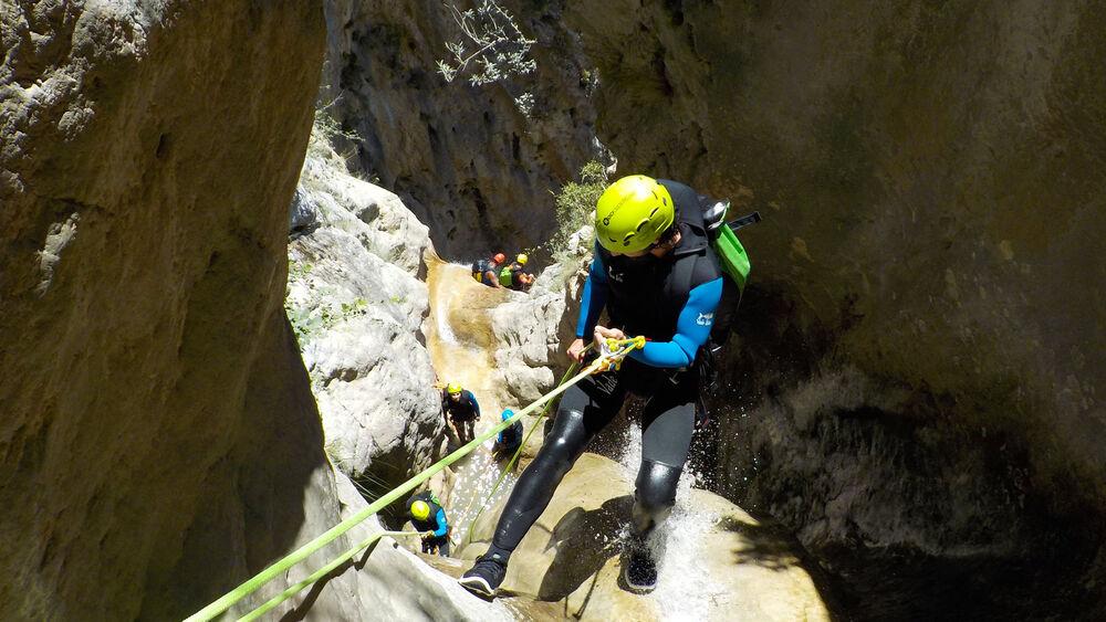 Canyoning vertical dans le Verdon